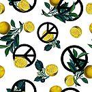 Peace Symbol and Lemon Patterns by talipmemis
