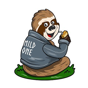 Mild Sloth Funny Juice Animal T-Shirt  by Ducky1000
