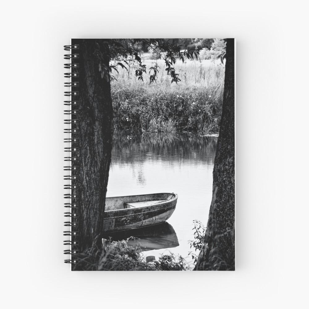 boat bw Spiral Notebook