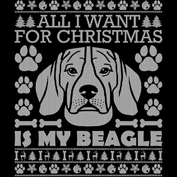 Christmas Beagle Sweater Ugly Christmas Sweaters Xmas T Shirt by Joeby26