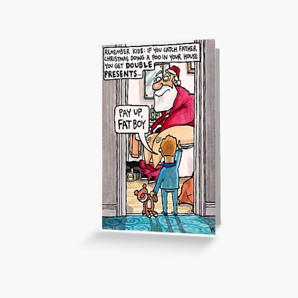 Double presents Christmas card Greeting Card