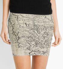 Minifalda Mapa Vintage de Grecia (1700)