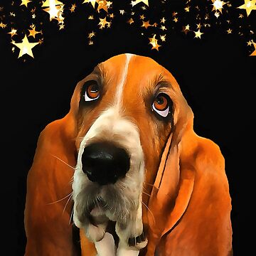 A Basset Hound. (Painting.) by cmphotographs