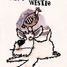 A partridge on a Westie Christmas card by dotmund