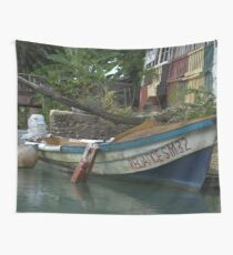 a large Jamaica landscape Wall Tapestry