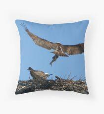Osprey Nest Throw Pillow
