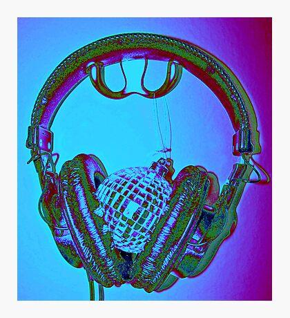"""""""mirrorball headphones"""" Photographic Print"""
