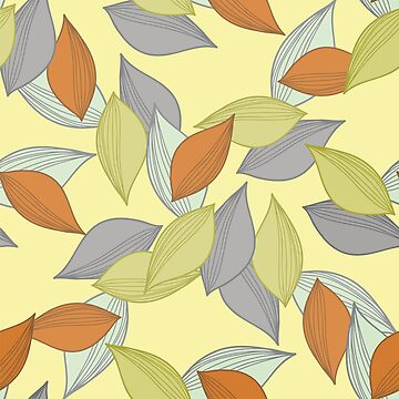 A pattern made of multi-colored fallen autumn by NataliaL