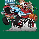 Hot Rod Santa Christmas Cartoon by hobrath