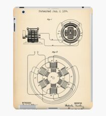 ELECTRICAL POWER TRANSMISSION vintage patent iPad Case/Skin