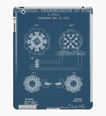 ELECTRICAL TRANSMISSION OF POWER blueprint iPad Case/Skin