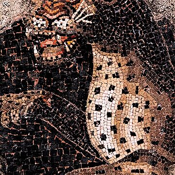 GEPHARD PORTRAIT  IN PINK BLACK WHITE From Antique Roman Mosaics by BulganLumini