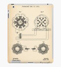 ELECTRICAL TRANSMISSION OF POWER vintage patent iPad Case/Skin