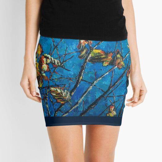 Golden Leaves III Mini Skirt