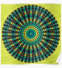 Phatpuppy Retro Texture Mandala Poster