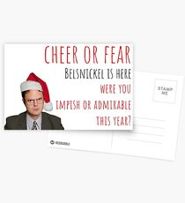 Dwight Christmas Card/Sticker. Pennsylvania Dutch Christmas. The Office US, meme greeting cards Postcards