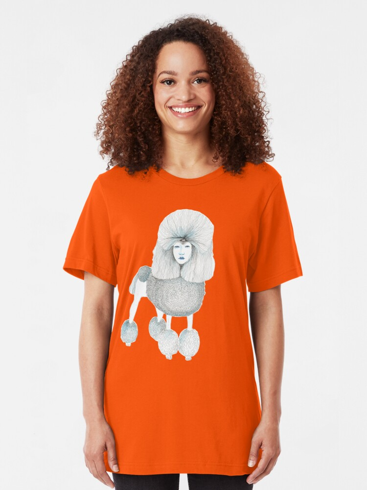 Alternate view of Weird poodles - Lady boy Slim Fit T-Shirt