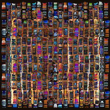Colorful glass artwork by dominiquelandau