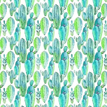 Watercolor Cactus by pixelcookie