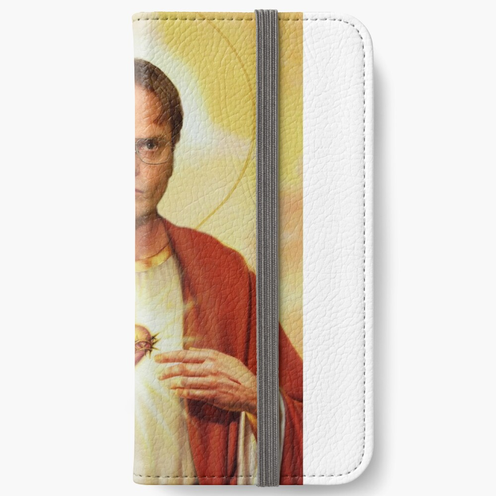 Heilige Dwight iPhone Flip-Case