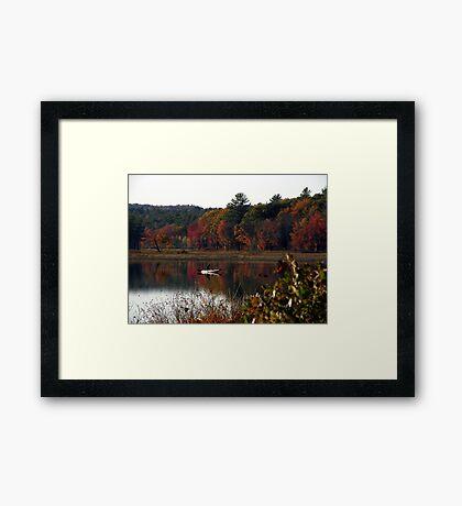 Kayaking Fisherman Framed Print