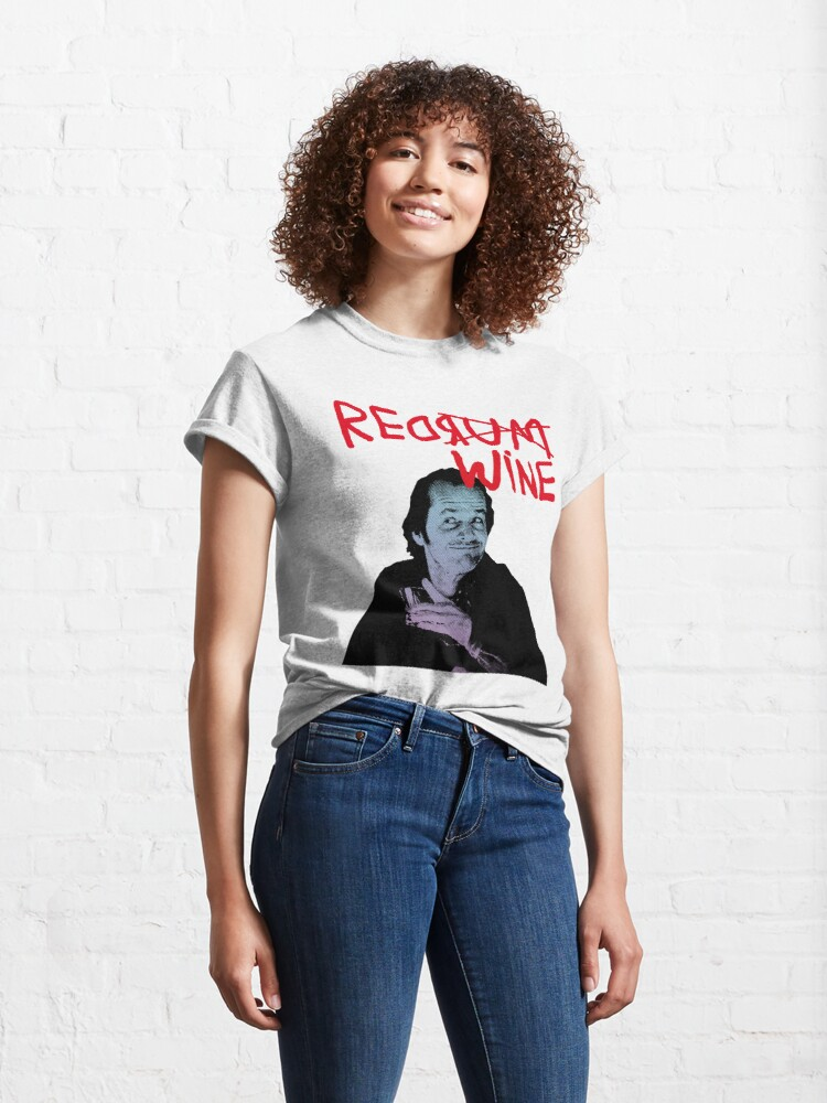 Alternate view of RED RUM RED WINE (JACK) Classic T-Shirt