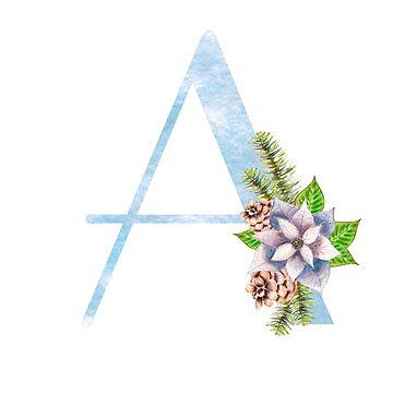 Christmas Letter A - uppercase Alphabet, Monogram, Initial  by ArtOlB