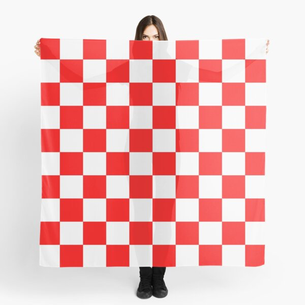 Red and White Checkered Scarf