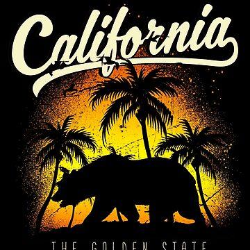 California Dreamin' ~ Bear with Palm Trees by EddieBalevo