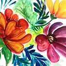 Watercolor Florals by TinaSalazar