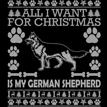 Christmas German Shepherd Sweater Ugly Christmas Sweaters Xmas Shepherds T Shirt by Joeby26