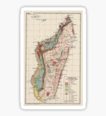 Geologische Vintage Karte von Madagaskar (1922) Sticker