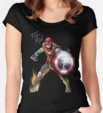 Eins mit seinem Universum. Tailliertes Rundhals-Shirt