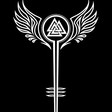 Valkyrie Symbol Valknut Odin Wings, Shield-Maiden by nitty-gritty