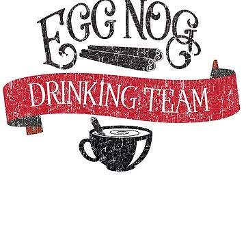 Egg Nog Drinking Team Hipster Christmas by andzoo