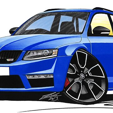 Skoda Octavia 3 vRS Estate Blue by yeomanscarart