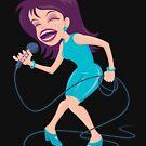 Singing Diva Female Pop Star by fizzgig