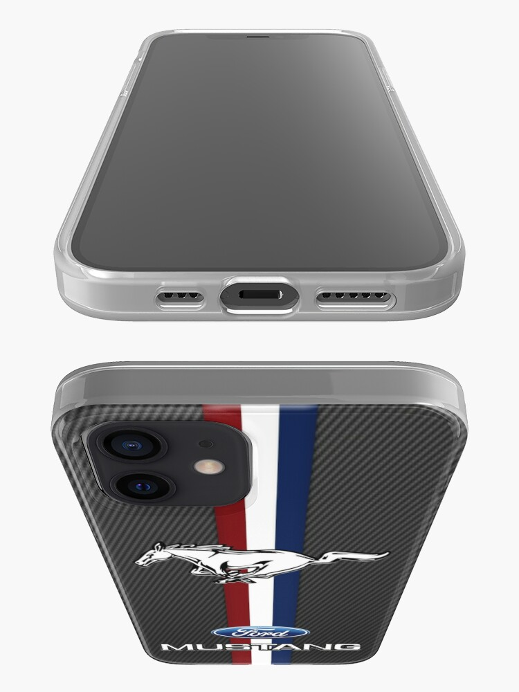 Alternate view of ford mustang Black carbon iPhone Case & Cover