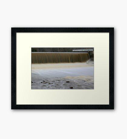 Brock's Millpond Dam Framed Print