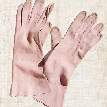 pastel pink gloves by TessAndre