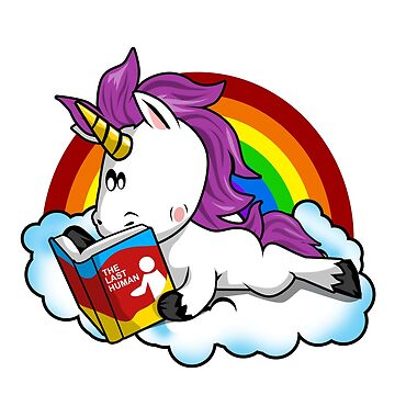 Unicorn Cute Reading Funny T-Shirt Magical  by Ducky1000