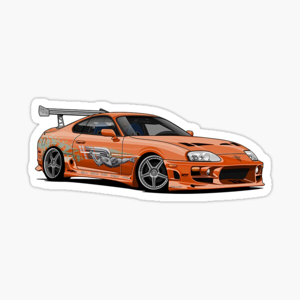 Fast And Furious Supra Sticker