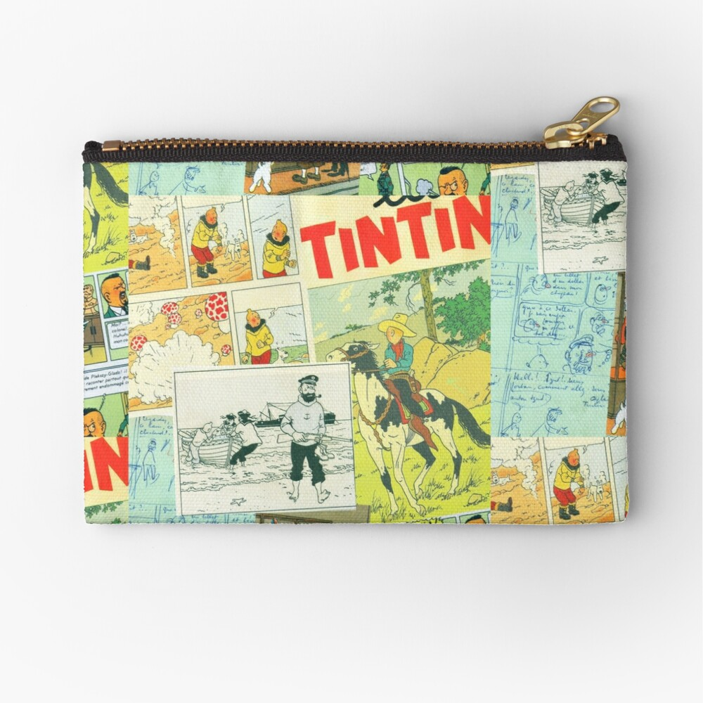 tintin collage 3 Zipper Pouch