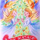 Merry Christmas-1  by Francesca Romana Brogani