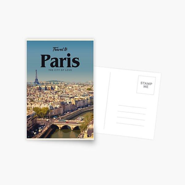 Visit Paris  Postcard