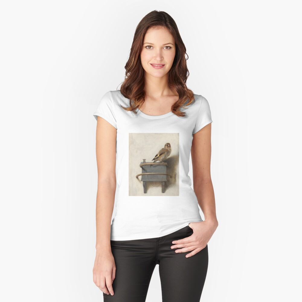 The Goldfinch by Carel Fabritius Fitted Scoop T-Shirt