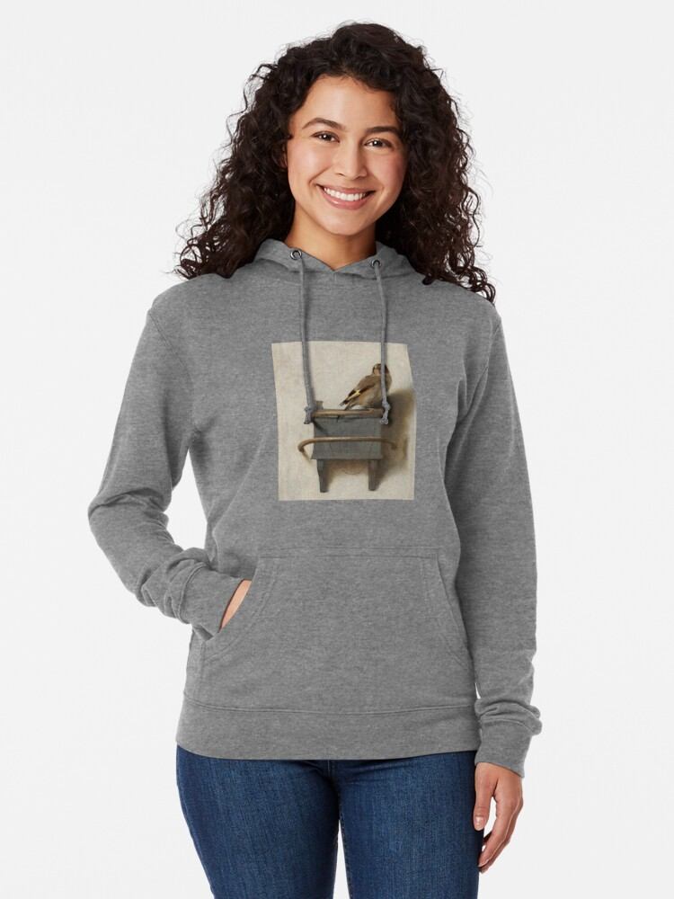 Alternate view of The Goldfinch by Carel Fabritius Lightweight Hoodie