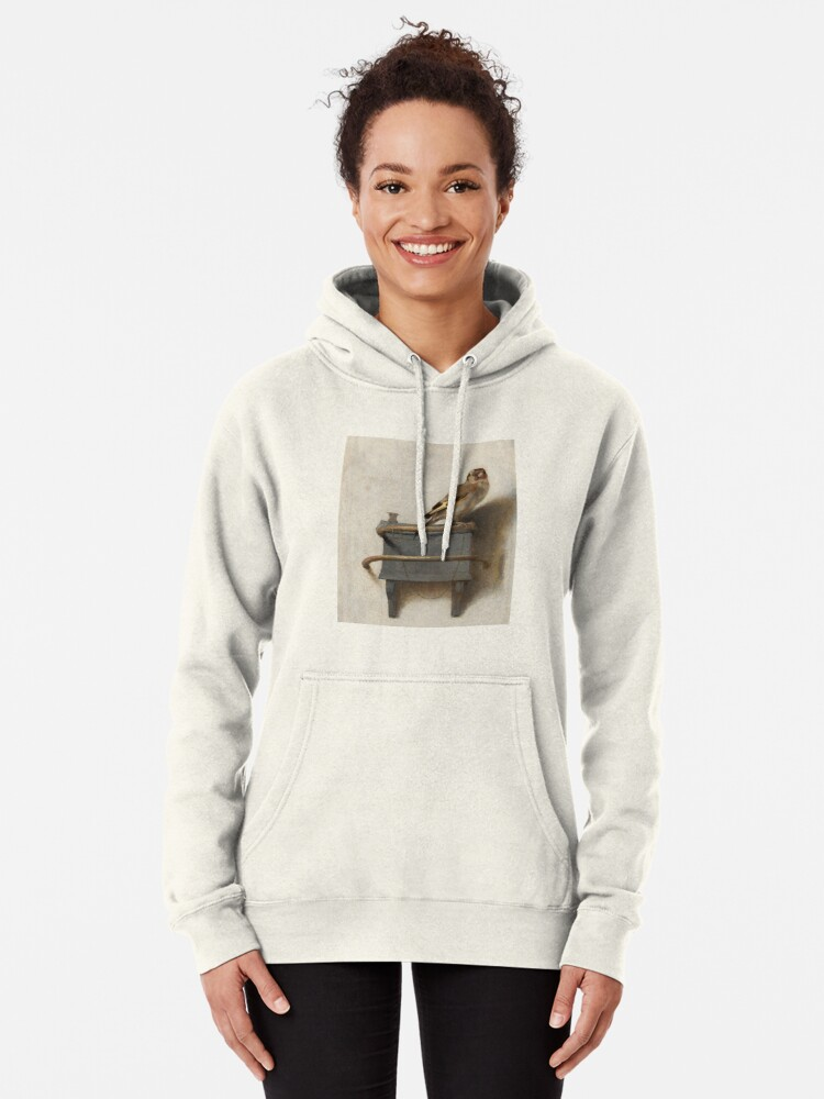 Alternate view of The Goldfinch by Carel Fabritius Pullover Hoodie