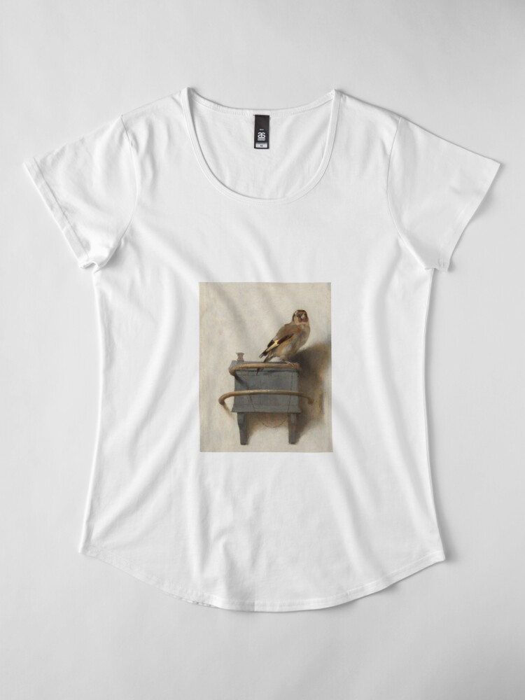 Alternate view of The Goldfinch by Carel Fabritius Premium Scoop T-Shirt