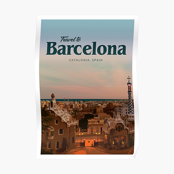 Travel to Barcelona  Poster